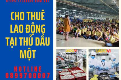 Cho thuê lao động tại Thủ Dầu Một