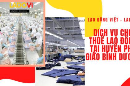 Cho thuê lao động tại Phú Giáo Bình Dương
